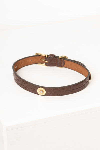 Brown - Cartridge Dog Collar