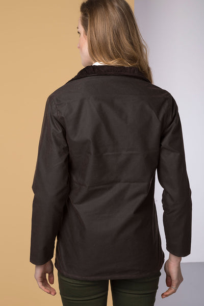 Brown - Ladies Cawood Wax Jacket