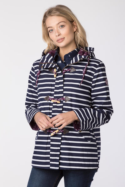 Navy Striped - Cayton II Toggle Jacket