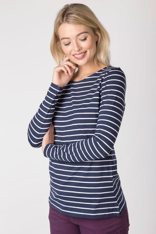 Navy - Ladies Cayton Bay Long Sleeve T-Shirt