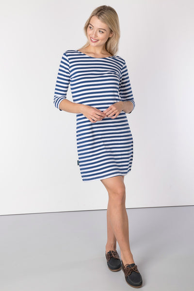 French Blue - Ladies Cayton Bay 3/4 Sleeve Dress