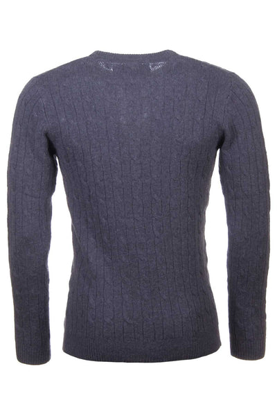 Dark Charcoal - Rydale Cable Knit Lambswool Sweater
