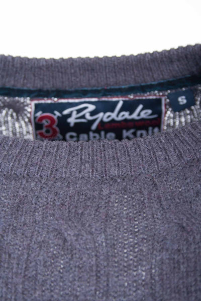 Dark Charcoal - Rydale UK Crew Neck Cable Knit Sweater