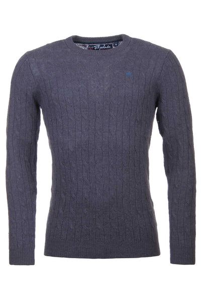 Dark Charcoal - Mens Classic Crew Neck Sweater