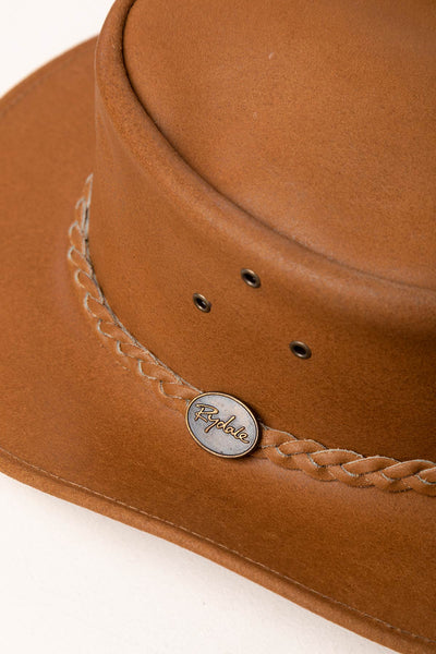 Tan - Men's Leather Hat - Cottam