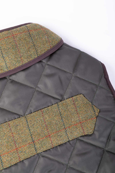 Country Quilted Dog Coat 10""