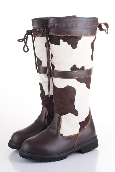 Rydale Cow Print Leather Boots