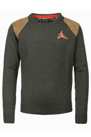 Olive - Boys Country Style Shooting Sweater