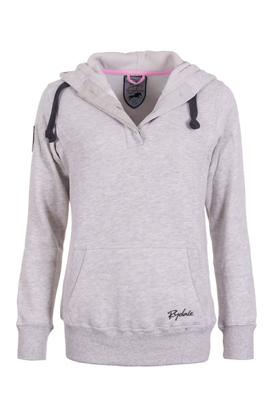 Soft Grey - Ladies Button Neck Numbered Hoody