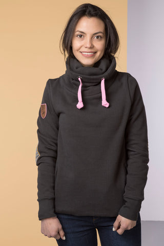 Cross Neck Sweatshirt with Number