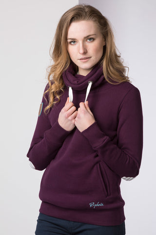Berry - Ladies Cross Neck Sweatshirt Plain