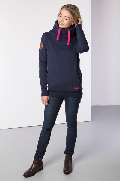 Navy - Cross Neck Sweatshirt with Number