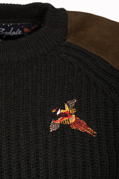 Olive Pheasant - Danby Chunky Shooting Sweater
