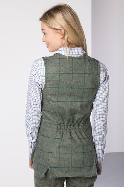 Blue Check - Ladies Danby Tweed Shooting Waistcoat