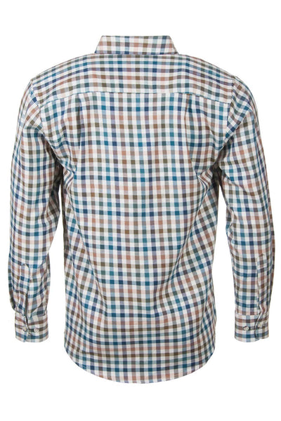 Harvest Dark Check - Mens Rydale Long Sleeved Shirts