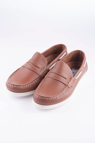 Light Brown - Loafer Leather Deck Shoes