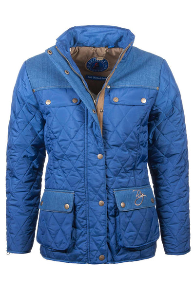 JBlue - Ladies Soft Quilted Jacket With Denim Trim