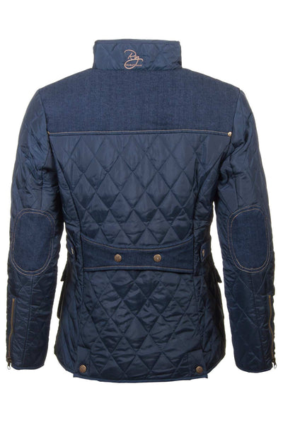 Navy - Soft Quilted Biker Babe Jacket