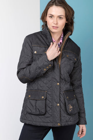 Denim Trim Quilted Jacket