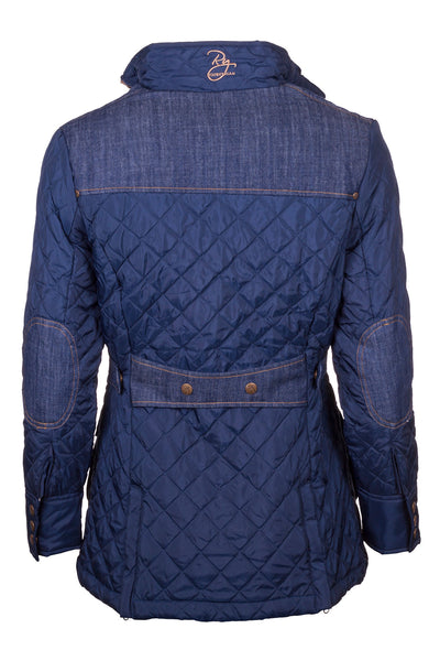 Navy - Denim Trim Quilted Jacket 2016
