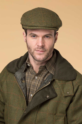 Dark Check - Derby Tweed Flat Cap