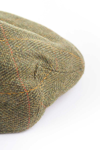 Dark Check - Kids Tweed Flat Caps