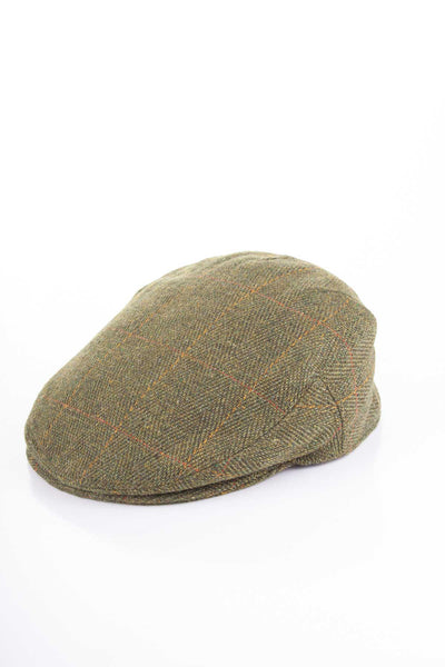 Dark Check - Junior Derby Tweed Flat Cap