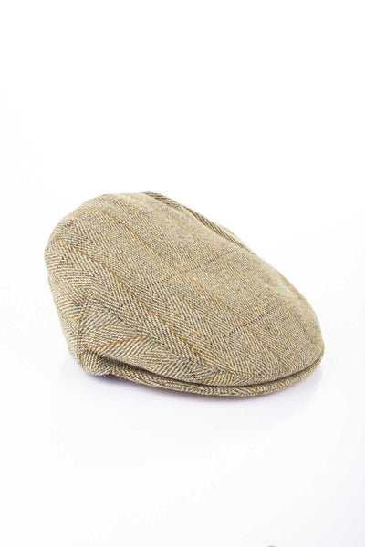 Light Check - Derby Tweed Flat Cap
