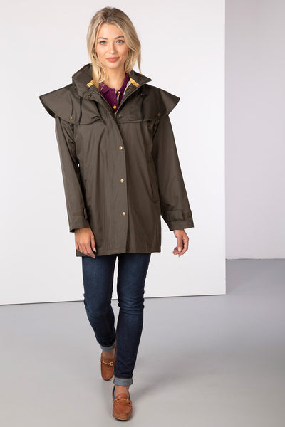 Khaki - Derwent III 3/4 Length Riding Coat