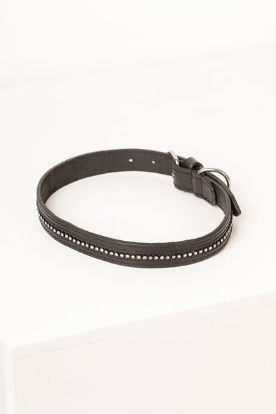 Black - Diamante Dog Collar