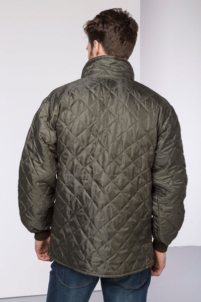 Olive - Mens Nylon Quilted Jacket