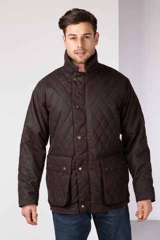 Brown - Diamond Quilted Wax Jacket II
