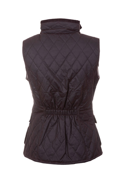 Brown - Diamond Quilted Wax Waistcoat II