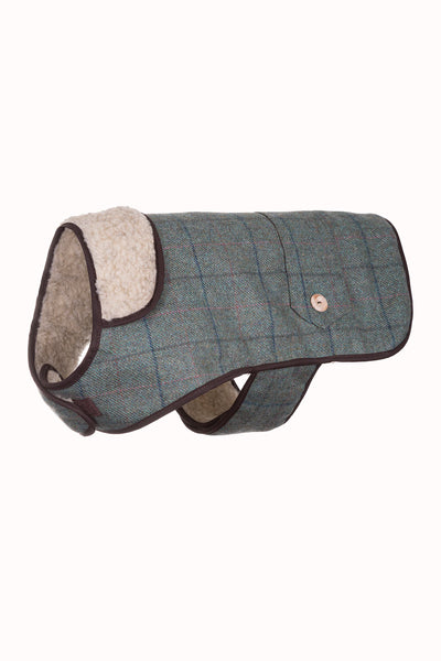 Kate - Tweed Dog Coat 10""