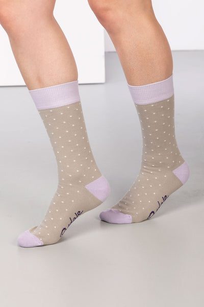 Silver - Dotty Ankle Socks