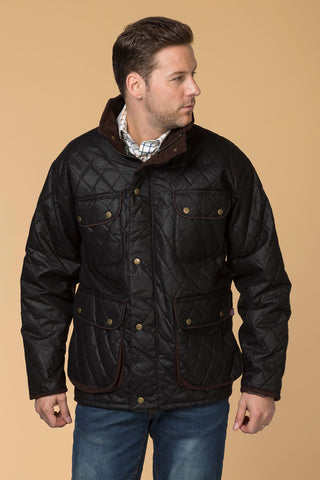 Black - Diamond Quilted Wax Jacket