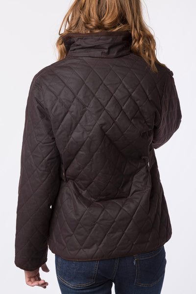 Brown - Rydale Ladies Diamond Quilted Wax Cotton Jacket
