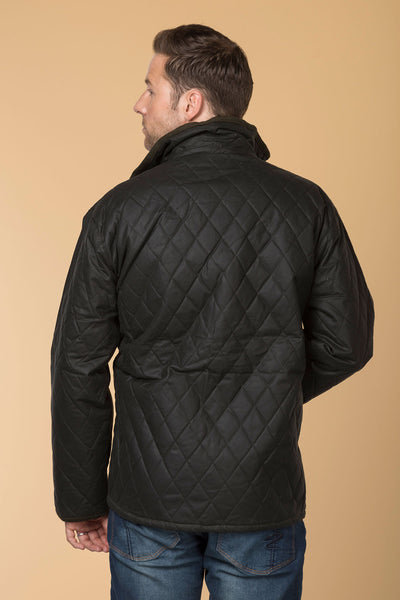 Olive - Quilted Wax Cotton Jacket