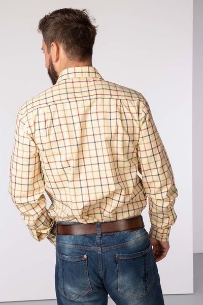 Sand - Ebberston Country Check Shirts
