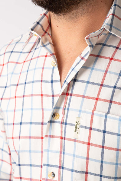 White - Ebberston Country Check Shirts