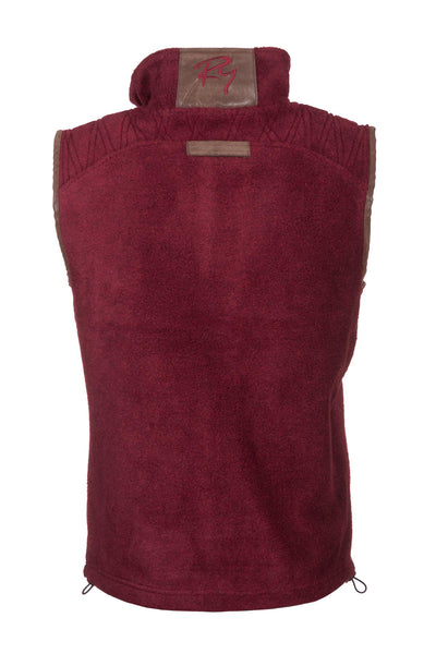 Deep Red - Rydale Mens Egton Fleece Gilet