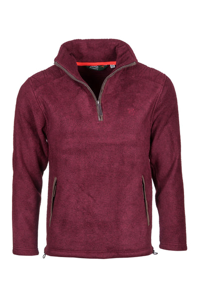 Deep Red - Egton Half Zip Fleece