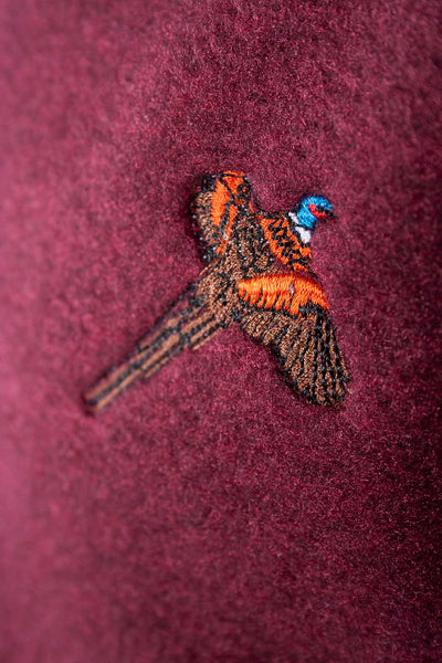 Deep Red Pheasant - Egton Half Zip Fleece