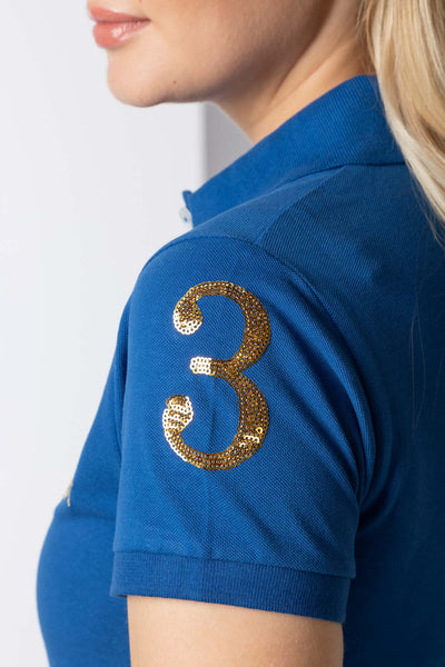 Blue - Ellie Sash Polo Shirt