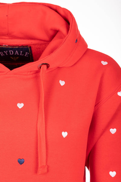 Cherry - Ladies Emily Embroidered Hoody