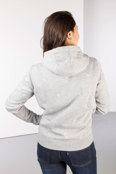 Grey Dog - Ladies Emily Embroidered Hoody
