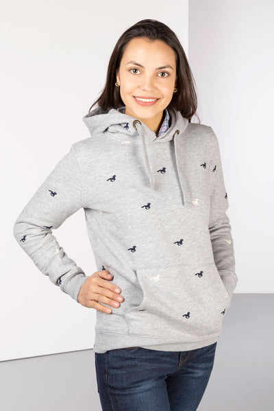 Grey Horse - Ladies Emily Embroidered Hoody