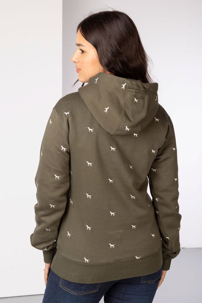 Khaki - Ladies Emily Embroidered Hoody