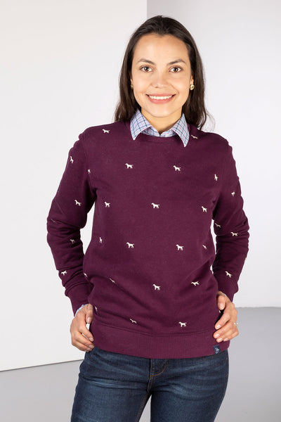Berry Dog - Ladies Embroidered Sweatshirt - Emily