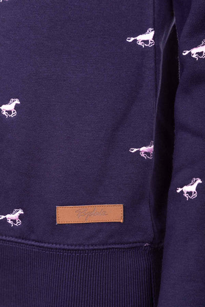 Navy - Emily Embroidered Sweatshirt